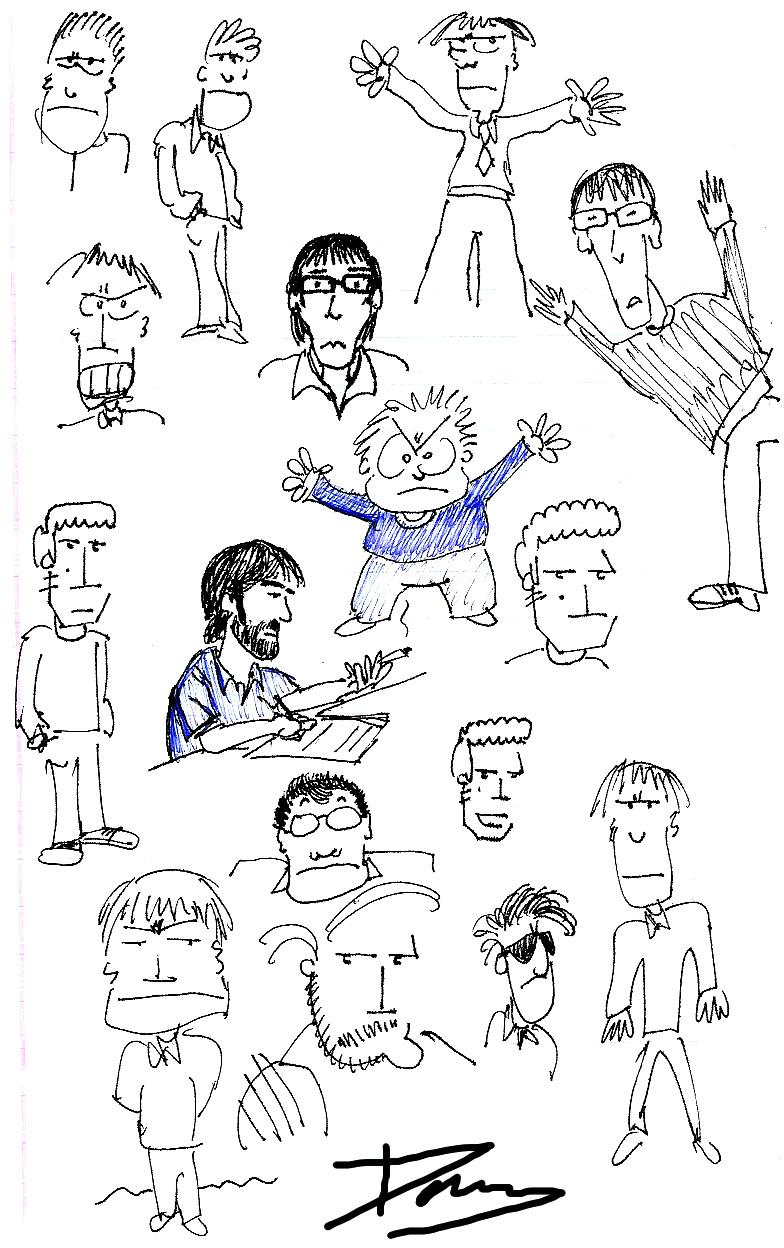 Impresiones en una hoja de papel durante la reunión