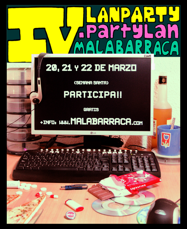 Cartel alternativo Party Lan